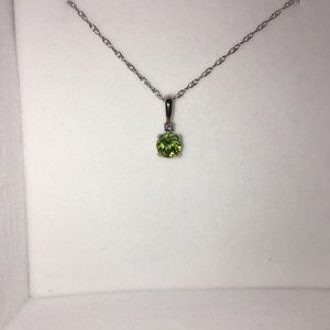 Jewelry - Silver and green custom gemstone pendant necklace